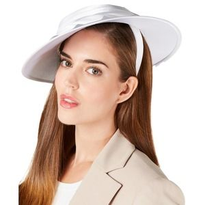 August Hats Draped Satin Hatinator White One size